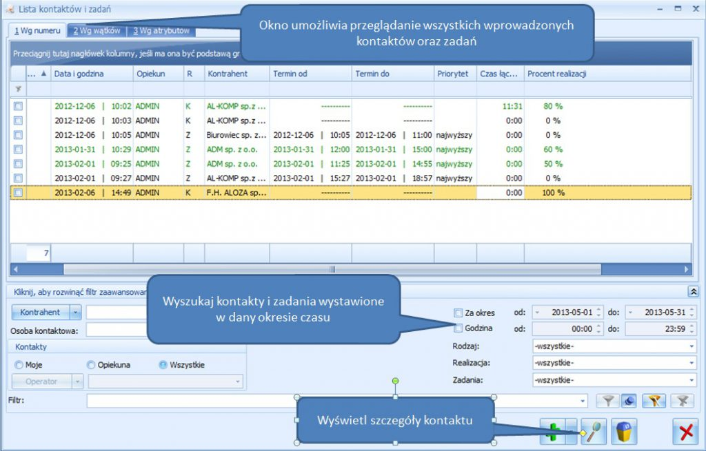 Comarch Optima CRM