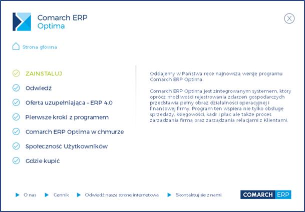 Comarch ERP Optima instalacja
